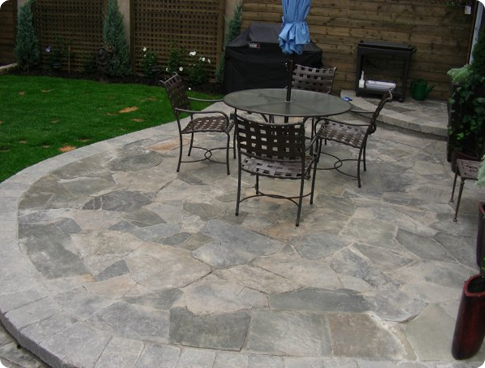 Flagstone Backyard Patio